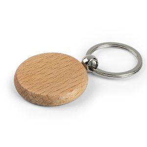 WOODY drveni okrugli privezak za ključeve bež kairos beograd